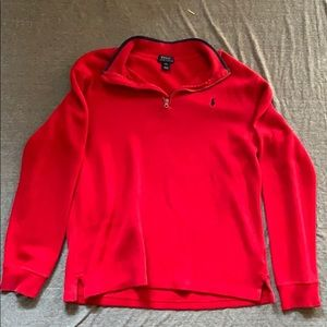 NEW POLO RALPH LAUREN HALF ZIP SWEATSHIRT